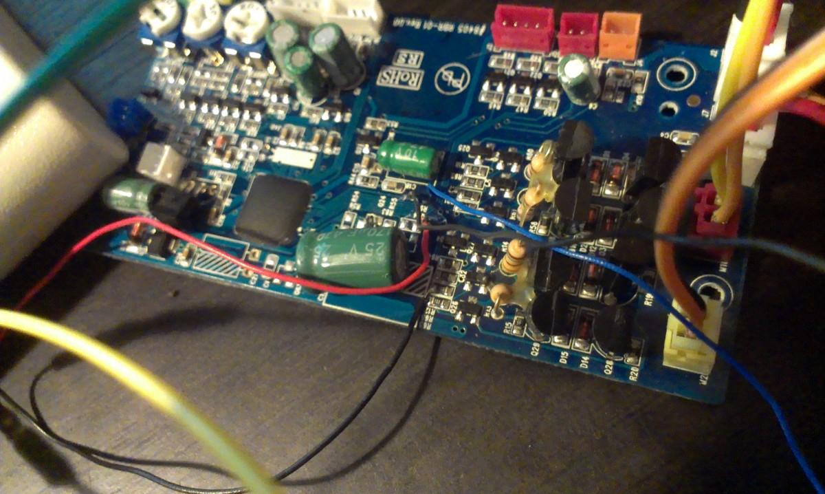 arduino rover motor controller hack closeup 2